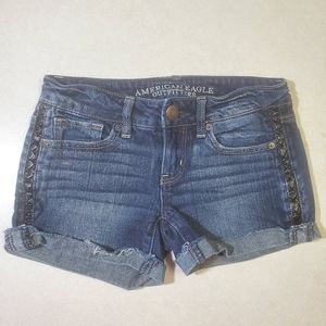 American Eagles Outfitters Stretch Jean Shorts 0